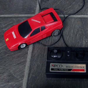 retro Ferrari Testarossa remote control car by Nipco VGC LOOSE UNBOXED